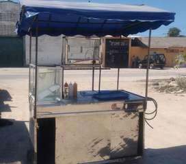 Carro de perros + Vitrina Calentadora + Freidora