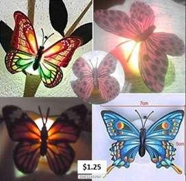 Mariposas luminosas