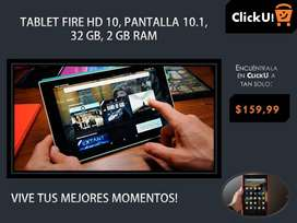 Nuevo Tablet Fire HD 10, (pantalla de 10.1 pulgadas, 1080P full HD, 32 GB) - Negro