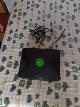 Xbox con sola con solo los cables