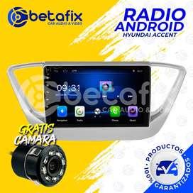 RADIO ANDROID HYUNDAI ACCENT VERNA 2018/20 GPS BT USB WIFI BETAFIX DESDE