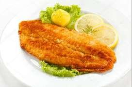 Pescado en filete y salpicón