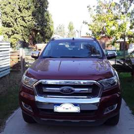 FORD RANGER 4X4 año 2017. 58500 kmts
