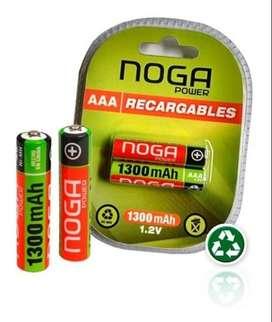 PILA RECARGABLE AAA - BLISTER X2 - NOGA