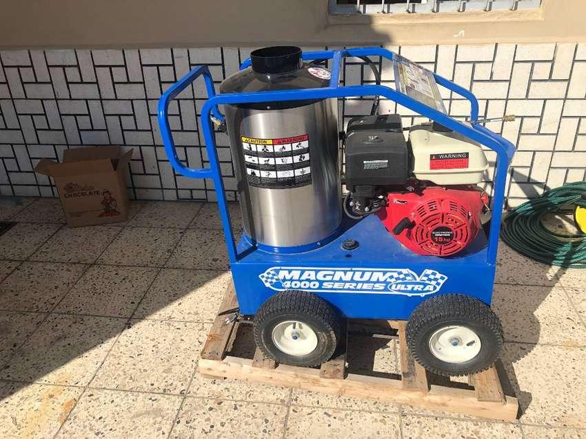 Lavadora Presión a vapor y frio Industrial con caldero