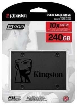 Unidad de almacenamiento SSD interno Kingston 240gb A400 PRODUCTO NUEVO