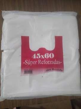 Bolsas Camisetas Super Reforzadas 45x60 X 1600 Unidades