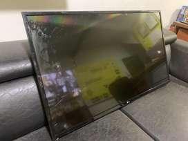 "Tv Lg 43"" con la pantalla rota"