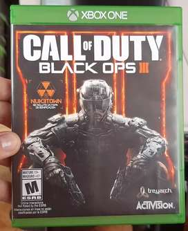 Vendo call duty black ops lll exbox one