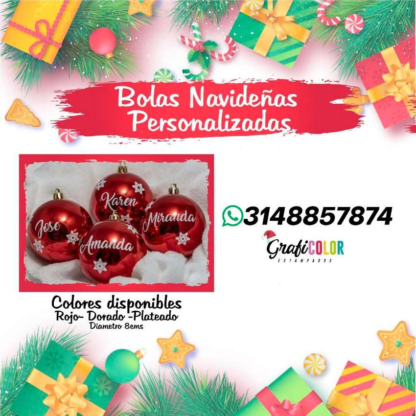 Bolas de Navidad Personalizadas 0