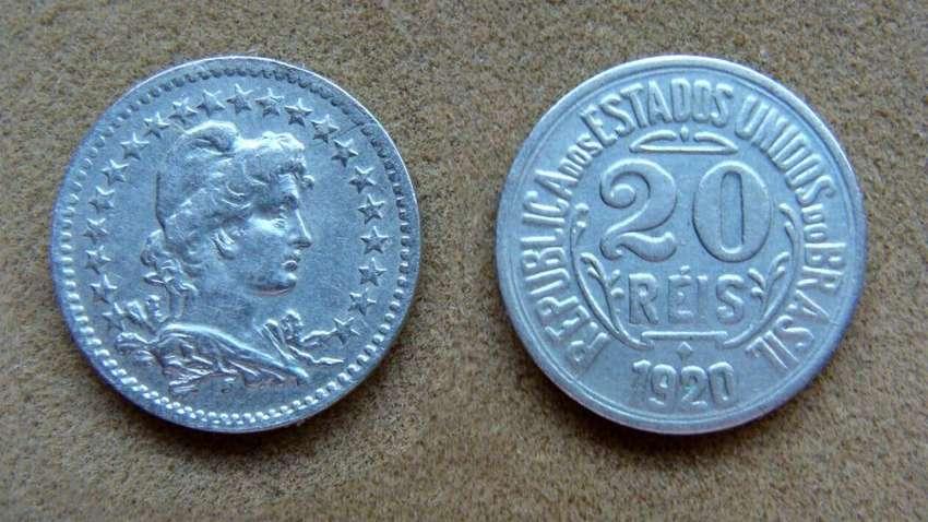 Moneda de 20 reis Brasil 1920 0