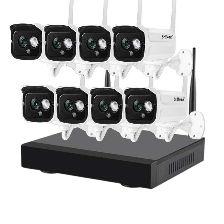 Kit De Seguridad Wifi Nvr + 8 Camaras Ip 1080 Sricam Nvs001 0