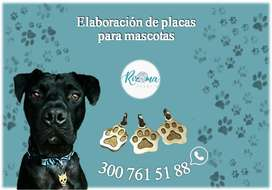 placas de identificación para mascotas