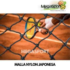 Malla/Red Nylon Negra de Contención y Contragolpe para Cerramiento Canchas de Tenis, Paintball, Golf