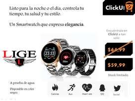 LIGE 2020, nuevo reloj inteligente para hombres, pulso, presión arterial, Recordatorio de información, deporte, etc