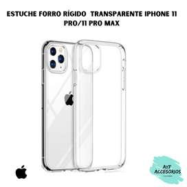 Estuche Para iPhone 11Pro / 11ProMax  Transparente Rígido