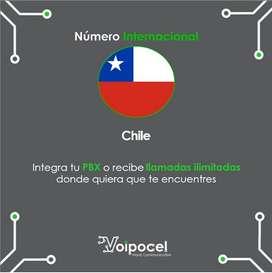 Número Internacional Voip - Chile - Telefonía Ip
