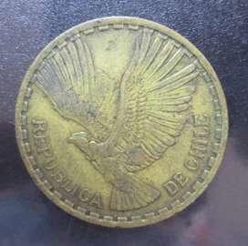 Moneda Chile 10 centésimos cóndor de los andes