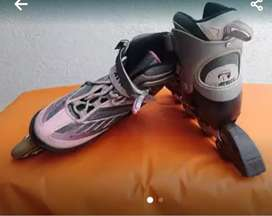 Patines mujer usados, ajustable a talla 38 a 41