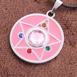 Sailor Moon Colgante Y Aretes Crystal Star Locket Anime Cosplay