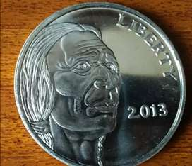 Moneda de 1 onza de Plata.