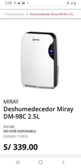 DESHUMEDESEDOR MARCA MIRAY MODELO DM 98C.ENTREGA EN SAN MIGUEL