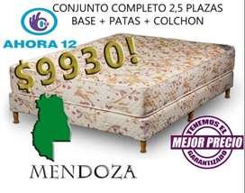 SOMMIER EL MEJOR PRECIO! SOMIER COMPLETO 2 PLAZAS 1/2 GOMA ESPUMA. COLCHON MAS CAMA SM104