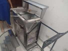 Fritador asador y vitrina