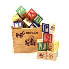 Cubos Didacticos Letras Numeros Madera 27pzs Cubo 3cm