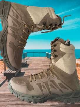 botas arena caña larga oakley