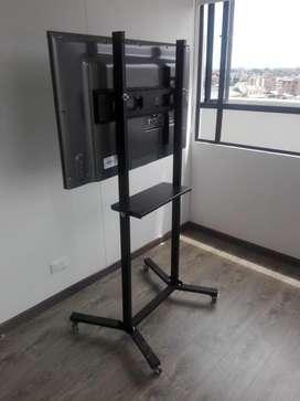 soporte tipo pedestal para tv