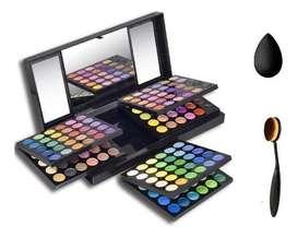 Paleta De Sombras Profesional 180 Colores  Brocha  Esponja