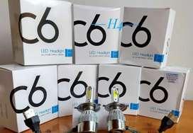 Luces LED C6 H4 8000 lúmenes