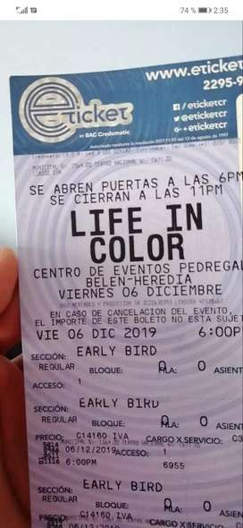 Entrada para Life in Color