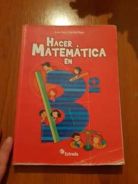 libro primario hacer matematica en 3°editorial estrada