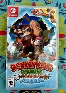 Donkey Kong country tropical freeze Nintendo switch.  Físico usado