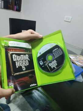 Vendo juego de xbox 360 original gitar hero 5