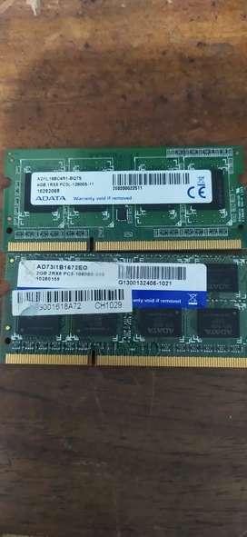 Venta memoria ram DDR3  y ddr2 y discos duros