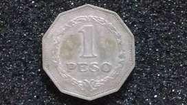 Moneda de 1 peso 1967
