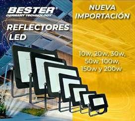 REFLECTORES LED 50w ️ 100w 200w  NORMAL, RGB Y SOLAR
