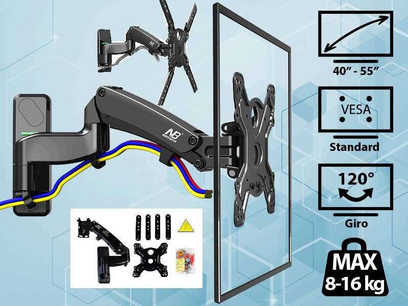 Soporte móvil Flexi Gas F450 para TV de 40″ hasta 55″