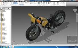 Programa  INVENTOR  v2019 / v2020 WINDOWS MAC  Video Curso  de Inventor Software