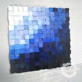 Mosaico de madera, cuadro abstracto