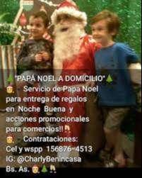 Papa Noel a domicilio para Navidad y comercios-Bs As