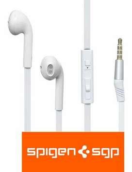 Audifonos Manoslibres Iphone Samsung Xiaomi Marca Spigen Cable Plano