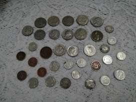 Vendo monedas antiguas de Colombia Venezuela y EE.UU