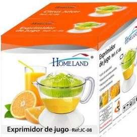 EXPRIMIDOR DE JUGO Eléctrico Homeland Color Blanco