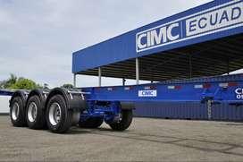 Chasis  portacontenedor importados CIMC 20 y 40 pies (MODELO 2021)