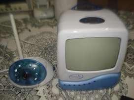 Camara Y Monitor Seguridad Wireles Blanco Y Negro C/sonido