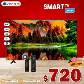 """Smart Tv Evvo 65"""" UHD 4K Android Bluetooth Comando de Voz"""
